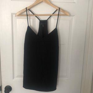 Black woven racer back sleeveless blouse